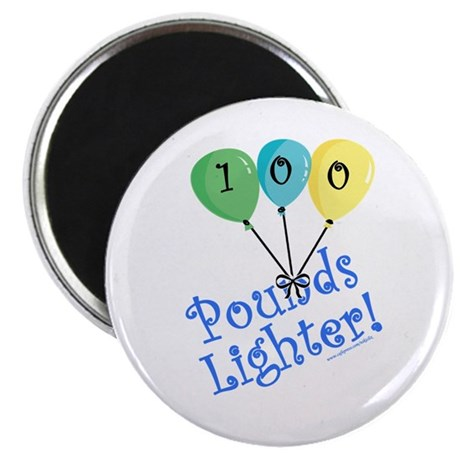 "100 Pounds Lighter 2.25"" Magnet (10 pack)"