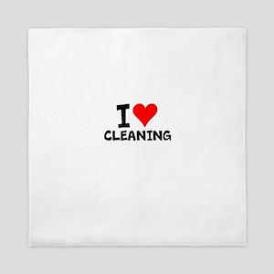I Love Cleaning Queen Duvet