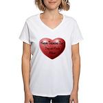 Whiners Valentine Women's V-Neck T-Shirt