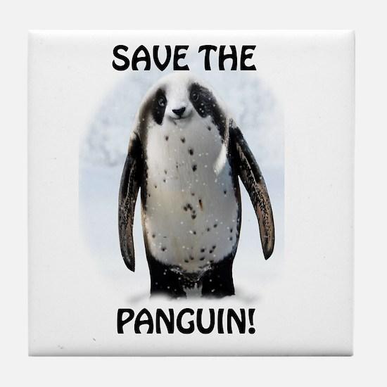 Cute Winter animal penguin Tile Coaster