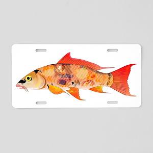 Orange Koi 5 Aluminum License Plate
