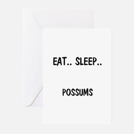 Eat ... Sleep ... POSSUMS Greeting Cards (Pk of 10