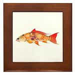 Orange Koi 5 Framed Tile