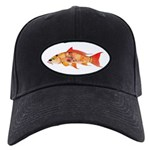 Orange Koi 5 Baseball Hat Black Cap With Patch