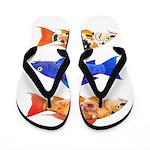 Orange Koi 5 Flip Flops