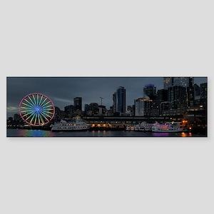 Seattle Waterfront Great Wheel Skyl Bumper Sticker