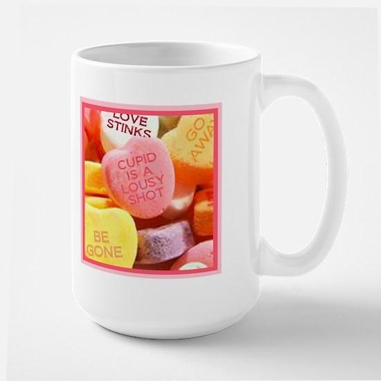 Bitter Candy Hearts Large Mug