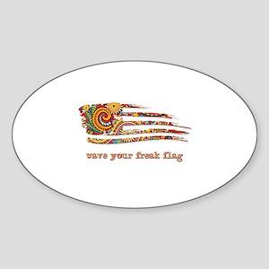 WAVE YOUR FREAK FLAG! A Hapealo Design Sticker