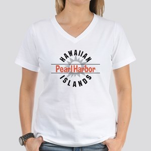 Pearl Harbor Hawaii Women's V-Neck T-Shirt