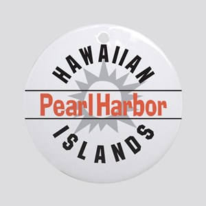 Pearl Harbor Hawaii Ornament (Round)