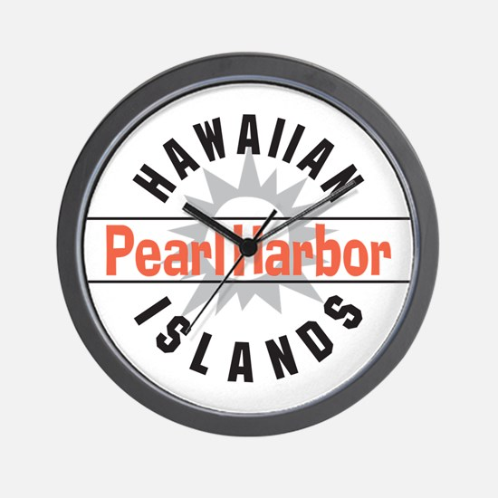 Pearl Harbor Hawaii Wall Clock