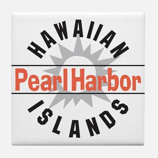Pearl Harbor Hawaii Tile Coaster