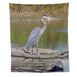 Blue Heron Wall Tapestry