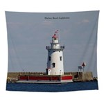 Harbor Beach Lighthouse Wall Tapestry
