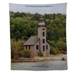 Grand Island East Channel Lighthouse Wall Tapestry