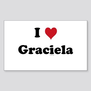 I love Graciela Rectangle Sticker