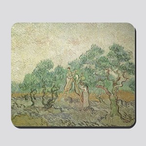 Van Gogh Olive Picking Mousepad