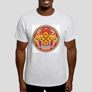 Bhutan Coat Of Arms Ash Grey T-Shirt