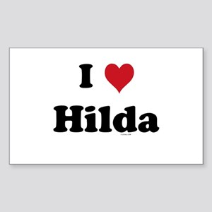 I love Hilda Rectangle Sticker