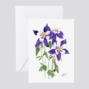 Blue Columbine Greeting Cards (Pk of 20)