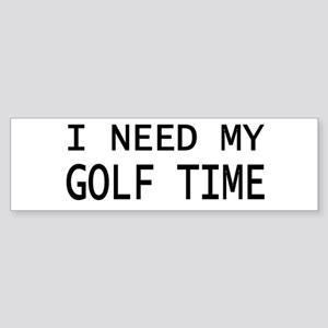 GOLF TIME Bumper Sticker