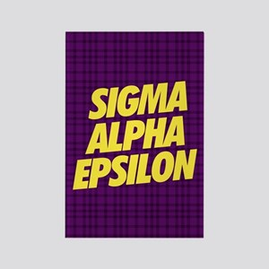 Sigma Alpha Epsilon Slant Rectangle Magnet