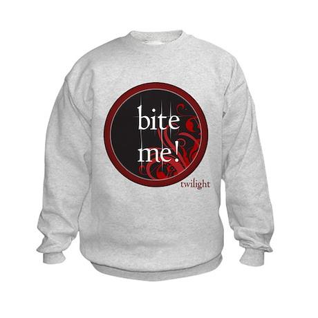 Twilight Bite Me Kids Sweatshirt