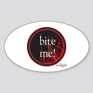Twilight Bite Me Oval Sticker