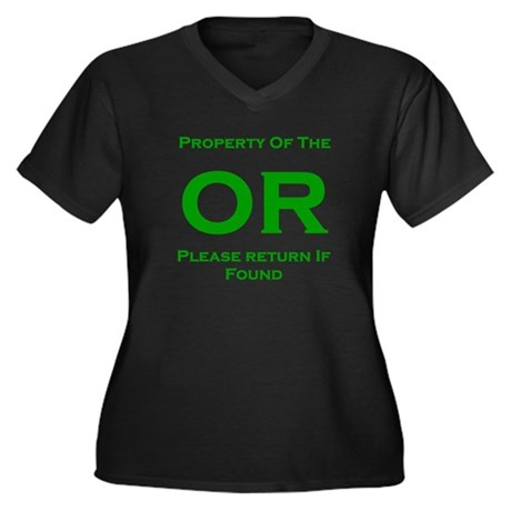 OR Prop green Women's Plus Size V-Neck Dark T-Shir