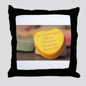 VD more than Valentine's Day Throw Pillow