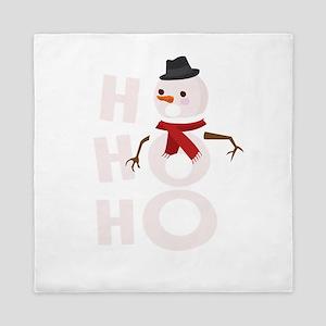 Cute Ho Ho Ho Snowman Christmas Xmas W Queen Duvet