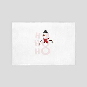 Cute Ho Ho Ho Snowman Christmas Xmas W 4' x 6' Rug