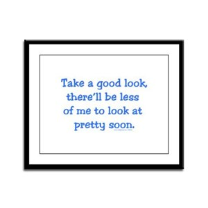 Take a Good Look Framed Panel Print