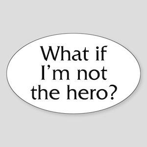 Twilight Edward Hero Quote Oval Sticker