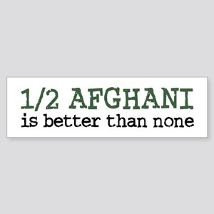Half Afghani Bumper Sticker