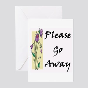 Education jobs fun stuffs greeting cards cafepress please go away greeting cards pk of 10 m4hsunfo
