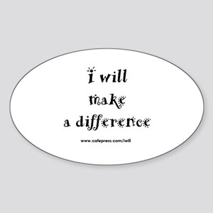 Make a Difference Oval Sticker