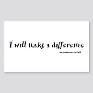 Make a Difference Rectangle Sticker 10 pk)