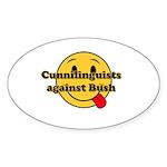Cunnilinguists against Bush Oval Sticker (50 pk)