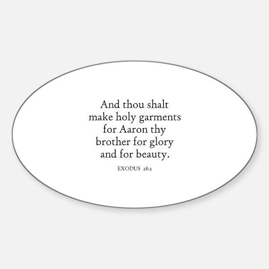 EXODUS 28:2 Oval Decal