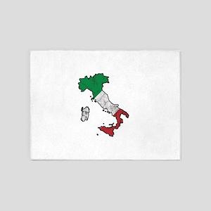 Patriotic Italy Flag Patriot Italia 5'x7'Area Rug