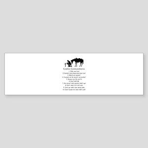 Cowboy Commandments Bumper Sticker