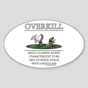 Overkill Oval Sticker