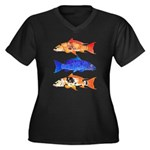 3 koi Plus Size T-Shirt