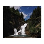 Cameron Falls Waterton Throw Blanket
