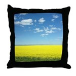 canola fields Throw Pillow