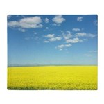 canola fields Throw Blanket