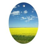 canola fields Oval Ornament