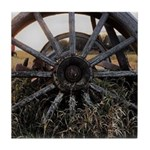 Wagon Wheels Tile Coaster