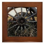 Wagon Wheels Framed Tile